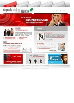 Corporate solution Website template