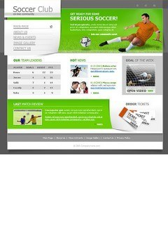 Soccer Website template
