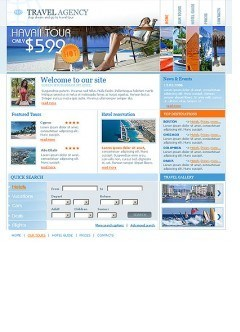 New Travel Website template