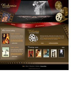 Cinema Website template