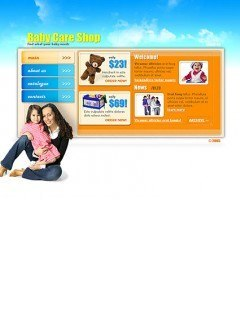 BabyCare shop Flash template