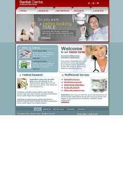 Dantist centre Website template