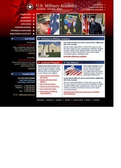 Military Academy Easy flash template