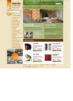 Furniture store html dreamweaver template
