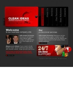 Clean ideas Flash template