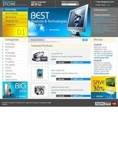 Electronics Store Website template