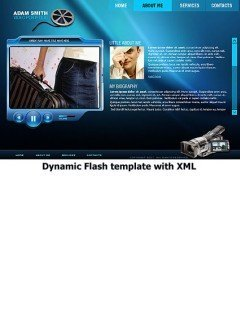 Video portfolio Flash template