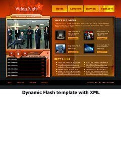 Video sight Flash template