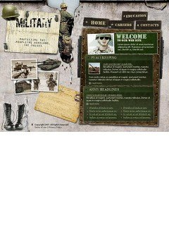 Military Flash template