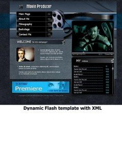 Movie Producer Flash template