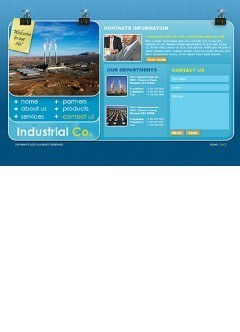 Industrial co. Flash template