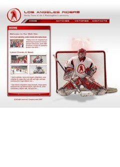Hockey Flash template