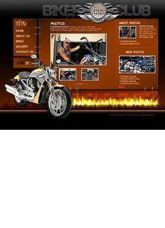 Biker club Flash template