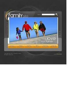 My family Flash template