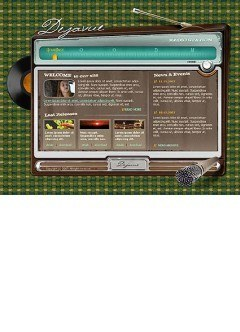 Radiostation Flash template