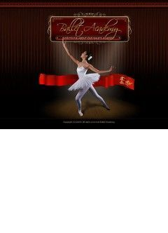 Ballet academy Flash template