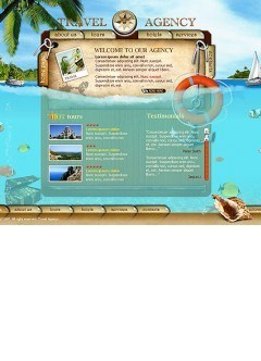 Travel agency Flash template