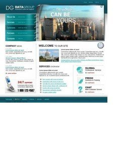 DG Group Website template