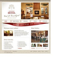 Bed and breakfast html dreamweaver template