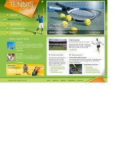 Tennis club html dreamweaver template