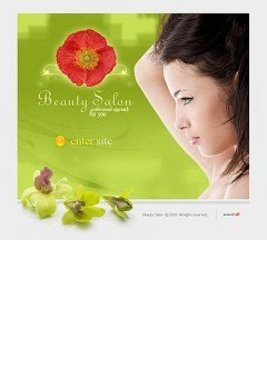 Beauty salon Flash template