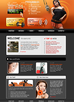 Radio FM Website template