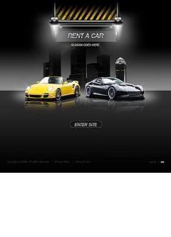 Rent a car Flash template