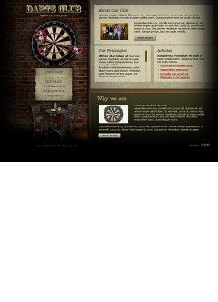 Dart club Flash template