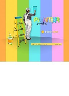 House painter Flash template