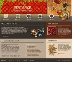 Best spices Website template