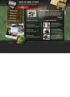 Military unit Flash template