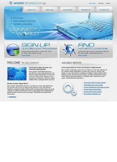 IT company Website template