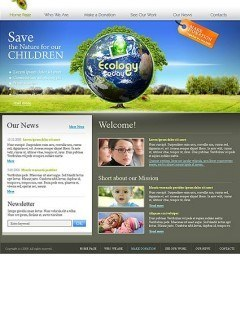 Ecology Website template