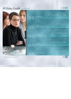 Privat lawyer Flash template