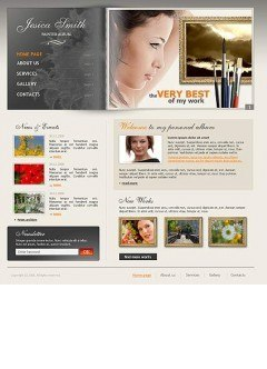 Painter album html dreamweaver template