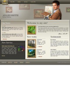 Painter portfolio Website template