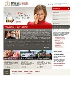 Insurance Brokers Website template