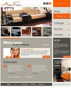 Modern furniture Website template