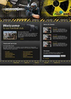 Paintball club Website template