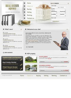 Properties HTML template