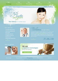 Plastic surgeon html dreamweaver template