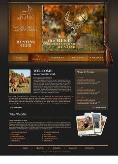 Hunters club Website template