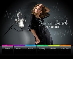 Pop Singer Easy flash template