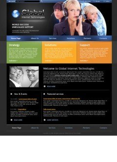 IT Company HTML template