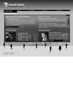 Security agency Easy flash template