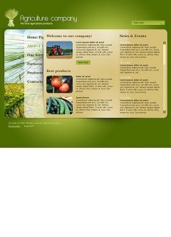 Agricultura co. Easy flash template