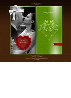 Wedding invitation Easy flash template