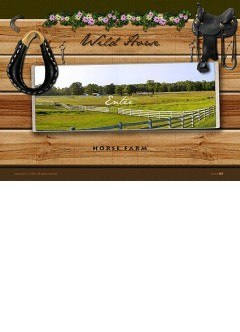 Horse Farm Easy flash template