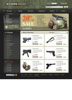 Weapon Store osCommerce