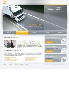 Transportation html dreamweaver template